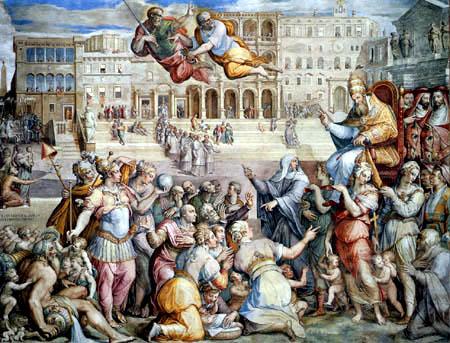 Giorgio Vasari - Gregory XI. transferred the seat of the Pope