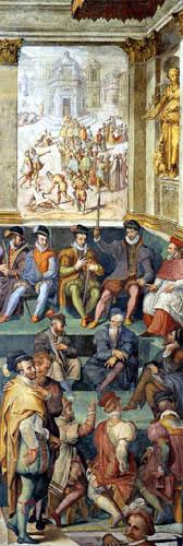 Giorgio Vasari - Karl IX. billigt die Tötung eines Admirals