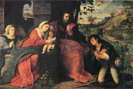 Palma il Vecchio (Jacopo d´Antonio de Negretti) - Adoration of the Shepherds