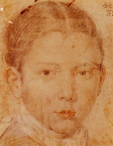 Diego R. de Silva y Velázquez - Kopf eines Jungen