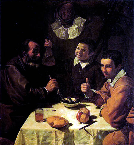 Diego R. de Silva y Velázquez - Three men at the table