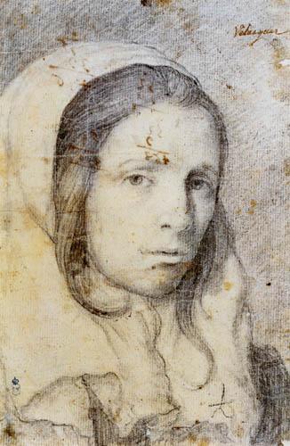 Diego R. de Silva y Velázquez - Mädchenporträt