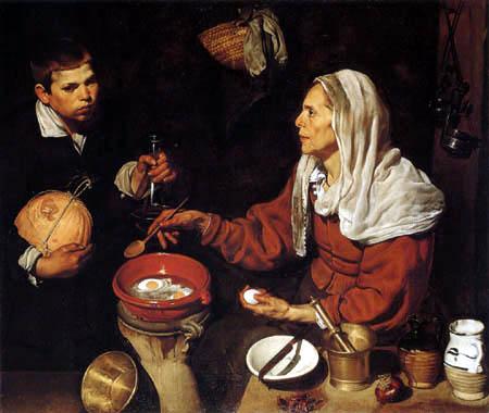 Diego R. de Silva y Velázquez - Blinde Frau beim Eierbraten