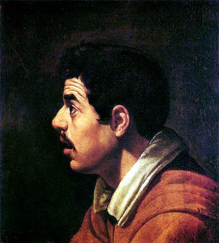 Diego R. de Silva y Velázquez - Profilbildnis eines Mannes