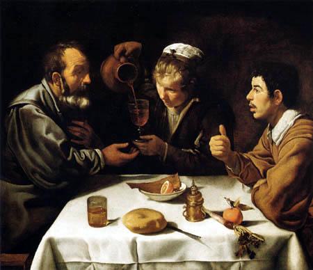 Diego R. de Silva y Velázquez - Trois fermiers à la table