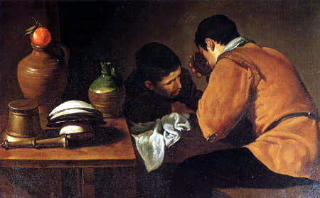 Diego R. de Silva y Velázquez - Two men on the table