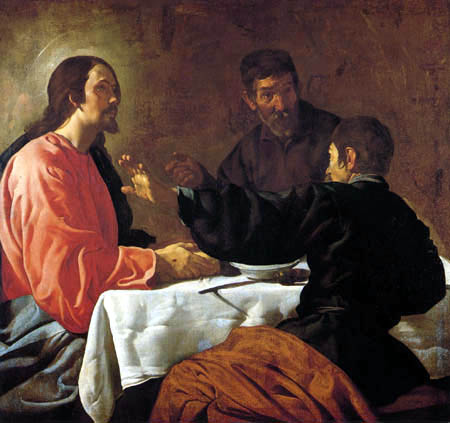 Diego R. de Silva y Velázquez - Supper at Emmaus