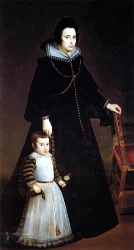 Diego R. de Silva y Velázquez - Doña Antonia de Ipeñarrieta with son