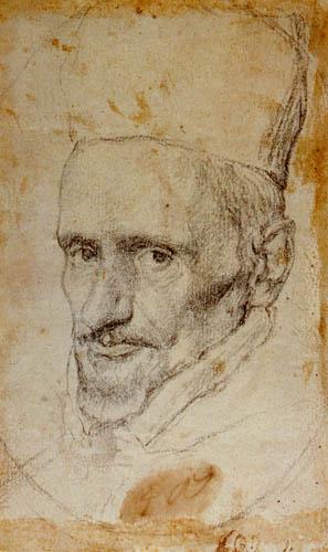 Diego R. de Silva y Velázquez - Kardinal Borja, Studie