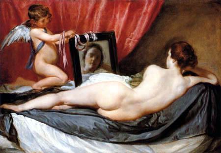 Diego R. de Silva y Velázquez - Venus at her Mirror