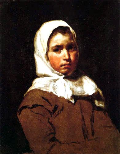 Diego R. de Silva y Velázquez - Porträt eines Bauernmädchens