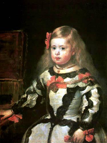 Diego R. de Silva y Velázquez - Portrait of Infantin Margarete