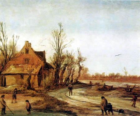 Esaias van de Velde - Winter landscape