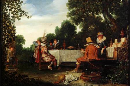 Esaias van de Velde - Outdoor Celebration