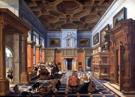 Esaias van de Velde - Interior with a good company