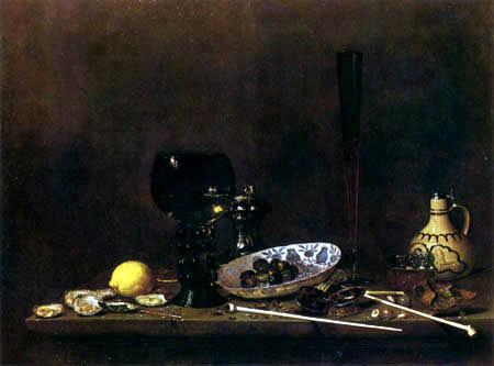 Jan van de Velde - Still life with pomp goblet
