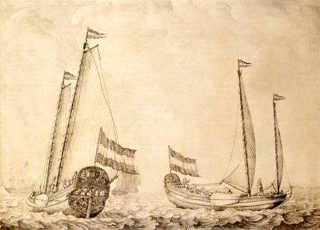 Willem van de Velde the Elder - Jachten in der Zuiderzee