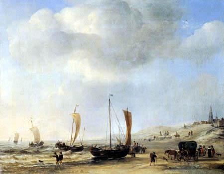 Willem van de Velde the Younger - Coast Scheveningen