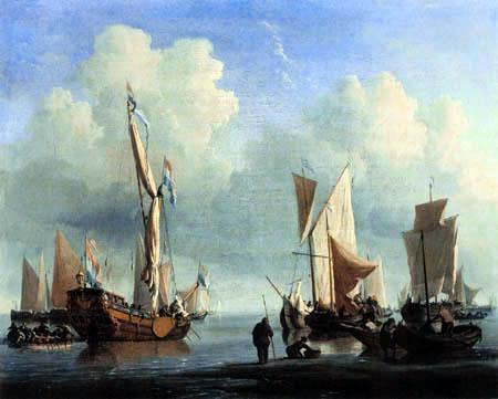 Willem van de Velde the Younger - Schiffe vor der Küste