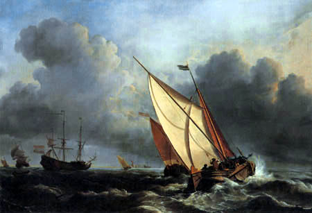 Willem van de Velde the Younger - Sailingvessels