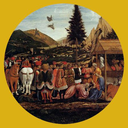 Domenico Veneziano (D. di Bartolo da Venezia) - Die Anbetung der Könige