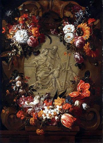 Gaspar Pieter Verbruggen - Flowers garland