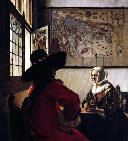 Jan Vermeer van Delft - Der Offizier und das lachende Mädchen