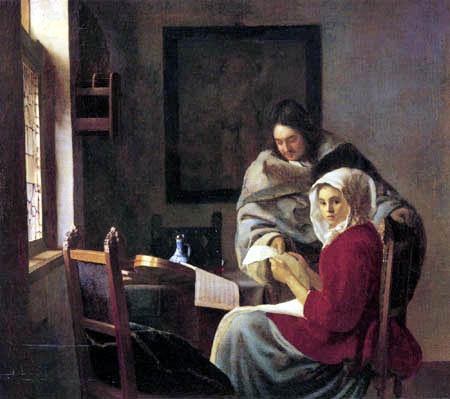 Jan Vermeer van Delft - Die unterbrochene Musikstunde