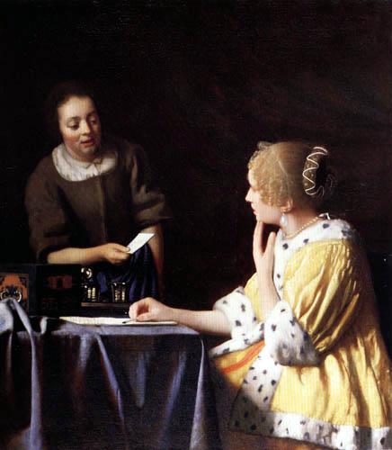 Jan Vermeer van Delft - Mistress and Maid