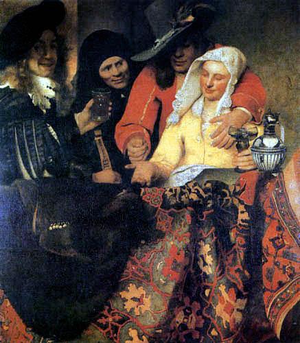 Jan Vermeer van Delft - Bei der Kupplerin
