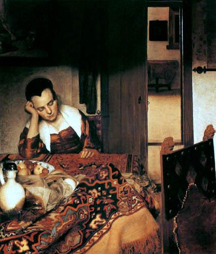 Jan Vermeer van Delft - A Girl Asleep