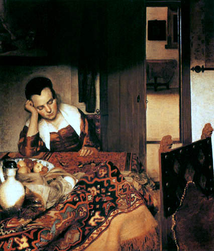 Jan Vermeer van Delft - Schlafendes Mädchen