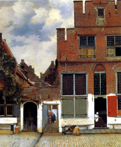 Jan Vermeer van Delft - The Little Street, Delft