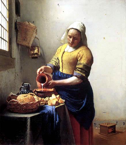 Jan Vermeer van Delft - Dienstmagd mit Milchkrug