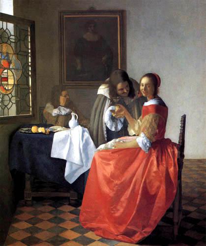 Jan Vermeer van Delft - The Girl with Two Men