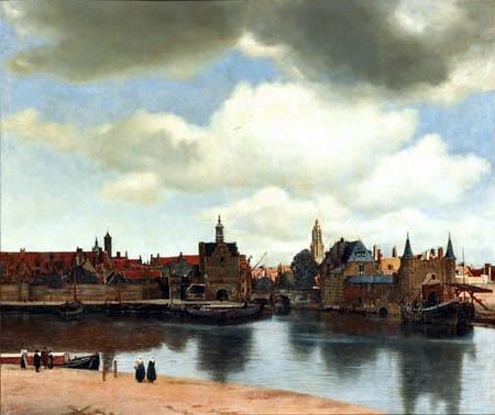 Jan Vermeer van Delft - Ansicht der Stadt Delft