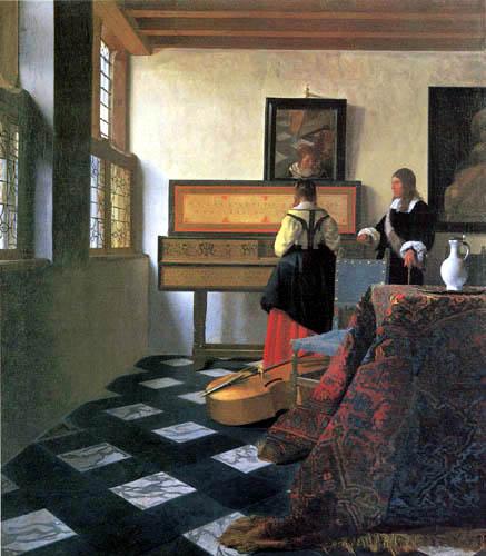 Jan Vermeer van Delft - Die Musikstunde