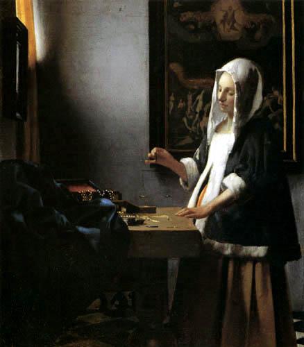 Jan Vermeer van Delft - Woman Holding a Balance