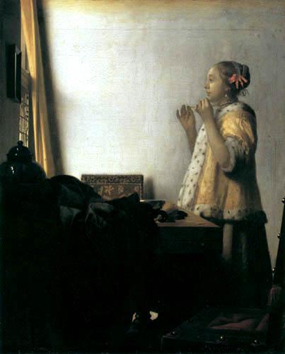 Jan Vermeer van Delft - Junge Frau mit Perlenkette