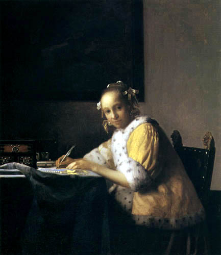Jan Vermeer van Delft - A Lady Writing a letter