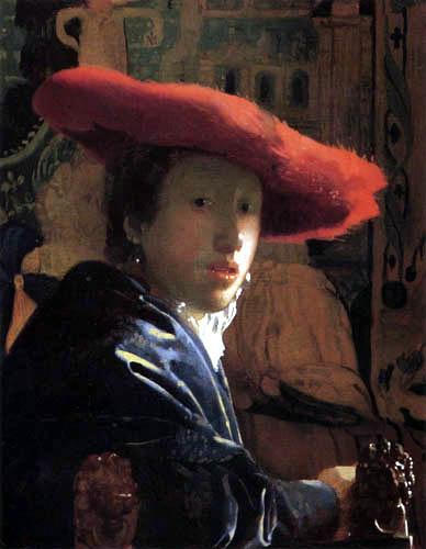Jan Vermeer van Delft - Das Mädchen mit dem rotem Hut
