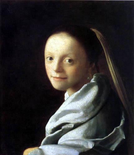 Jan Vermeer van Delft - Head of a Young woman