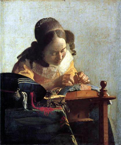 Jan Vermeer van Delft - The Lacemaker