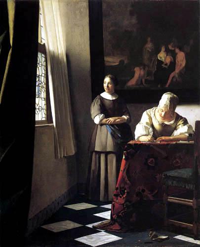Jan Vermeer van Delft - Briefschreiberin und Dienstmagd