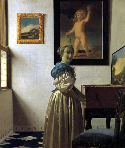Jan Vermeer van Delft - Stehende Virginalspielerin