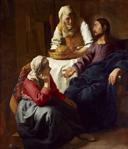 Jan Vermeer van Delft - Christ in the house by Maria and Martha