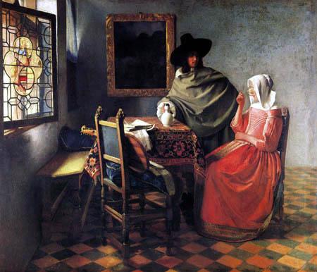 Jan Vermeer van Delft - The Glass of Wine