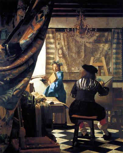 Jan Vermeer van Delft - Das Maleratelier