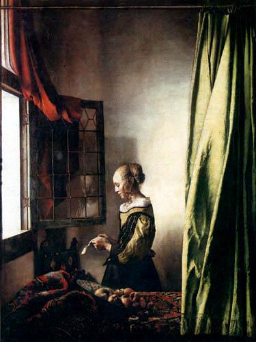 Jan Vermeer van Delft - Die Briefleserin am offenen Fenster