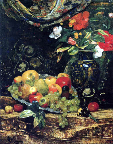 François Miel Vernay - Flowers and fruits